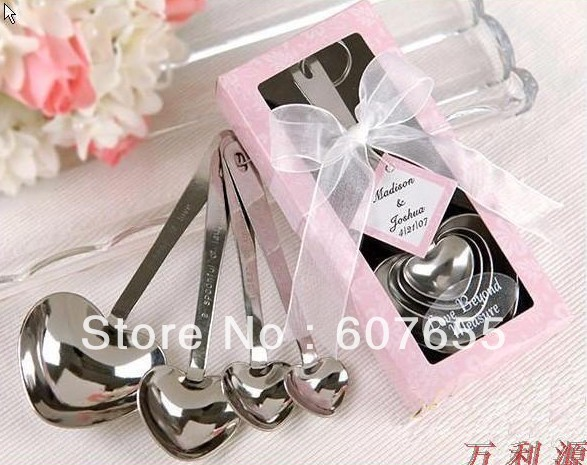 5set/lot free shipping Free shipping heart design Measuring spoon Cake decorating tool, cake tool bake tools good gift(China (Mainland))