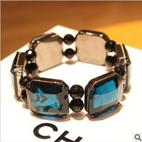 Freeshipping 2013 new arrival wholesale Bling square gems Stretch bracelets ancient star Bangles