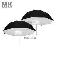 "Selens Photo Studio Lighting Umbrella Softbox 2* 84cm/33"" Black Silver 2in1 kit"