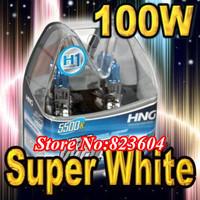Super White H1 Xenon Halogen Auto Car HeadLight Bulbs Kit 5500K 12V 100W