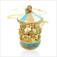 CTT Wholesale  NE-0092  Fashion Jewelry Women Carrousel Merry-go-round Necklace