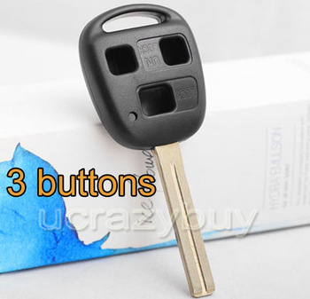 5PCS  FOR LEXUS IS300 ES300 SC300 LX470 BLANK Remote Key Shell Case 4.6cm blade