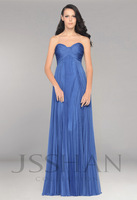 12B032 Sweet Strapless Empire Ruched Chiffon Pleats Elegant Gorgeous Luxury Unique Brilliant Bridesmaid Dress