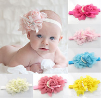 8pcs/lot Free Shipping New Baby Toddler Kids Girls Beautiful Lovely Princess Hairband Hair Lace Flower Accessories ,D83