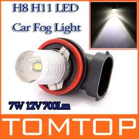 Super Bright 7W 12V 700Lm H8 H11 LED Car Fog Light Lamp Bulb White 1PC Free Shipping