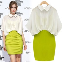 Short-sleeve slim hip 2013 one-piece dress skirt ol elegant women&#39;s work wear 2013 fasion women&#39;s Dresses