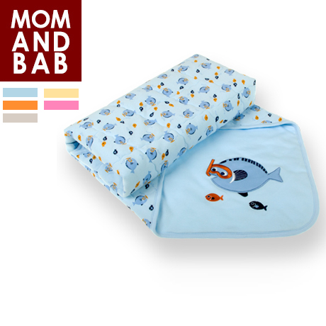 Momandbab 100% cotton super soft baby holds thickening baby blankets blanket autumn and winter two sides(China (Mainland))