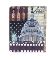 Wholesale New arrive USA White HousePU Leather Holster case for Ipad 2/3/4