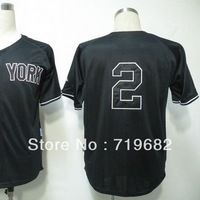 Free Shipping New York #2 Derek Jeter Men's Baseball Jersey,Embroidery and Sewing Logos,Size M--3XL,Accept Mix Order