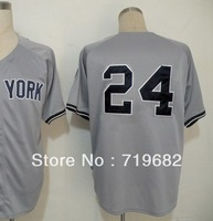 Free Shipping New York #24 Robinson Cano Men's Baseball Jersey,Embroidery and Sewing Logos,Size M--3XL,Accept Mix Order
