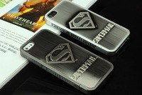 Free Shipping Plated Metal Avengers Superman Batman Embossed Hero Case Cover For iphone4 4S