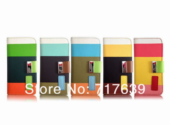 2013 Hot Sale For Apple iphone 5 Book Folder Stand Holder Leather Plastic Case Cover With ID Business Card Cases Pouch IP5C41(China (Mainland))