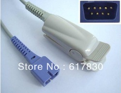 Free Shipping 10pcs/lot Nellcor DS-100A oximax Adult Finger Clip Spo2 Sensor/ Probe DB9-9pin 3FT(China (Mainland))