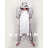 Free Shipping! 2013 New Arrival Kawaii Cute Seal winter animal pajama one piece high quality Winter Adults Sleepwear from China