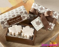 "Free shipping ""Maple Leaf "" Scented  Soap  for Wedding favor and gifts or Baby Shower Favors  1lot=40box"