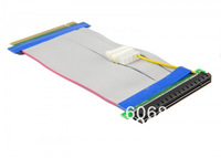 Free Shipping 5pcs/lot PCI Express PCI-e 16X TO 16X Riser Card Extender Ribbon Cable with w/ Molex Connector