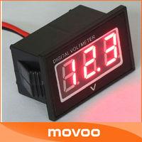 Red LED Digital Voltmeter Gauge DC 2.5-30V 12V Auto Mini Voltage Meter Waterproof Volt Tester Panel Meter