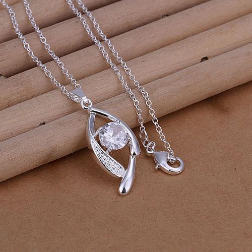 Wholesale 925 silver pendant necklace silver jewelry Necklace 925 necklace 925 sterling silver charm necklace hv hi P267(China (Mainland))