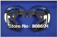 Free shipping GL1800 Chrome Front Brake Disc Covers + LED