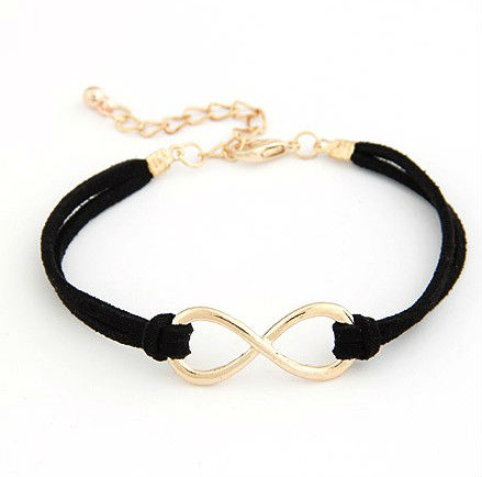 2013 New arrival Free shipping Fashion Korea personality Eight bangle jewelry infinity charm bangle jewelry(China (Mainland))