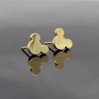 Bear Head Earrings,18k gold plated Trendy Stainless Steel Stud Earrings(E0063)