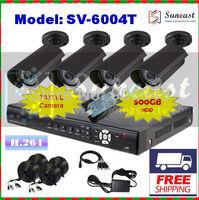1/3 Sony Effio-E 700TVL CCTV DVR System 4CH Indoor/Outdoor Waterproof IR Camera Kit with Full D1 DVR + 500GB HDD