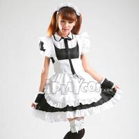 Halloween Sweet  lolita maid cosplay clothes uniform black apron dress set 123