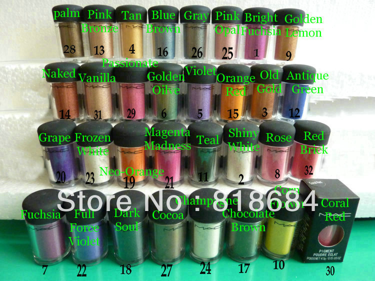NEW ! pigment poudre eclat 4.5G (35pc/lot)(China (Mainland))