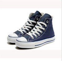 New Arrival Navy Blue Colour branded canvas shoes unisex tall style Sneaker EU35-44 retail/wholesale free shipping