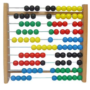 Count beads calculation frame iron and steel rubber wood child products(China (Mainland))