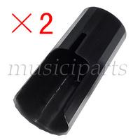 freeshipping 2*CLARINT BLACK NEW PLASTIC MOUTHPIECE CAP CLARINET PARTS