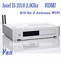 4G RAM 500G HDD, pc mini itx with Intel I5 2310 2.9Ghz 32nm mini pc blu ray
