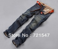 jeans men wholesale and retail ,High quality pure cotton straight broken hole in the new2013