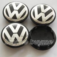 Freeshipping 4pcs 65mm  VW POLO JETTA PASSAT Volkswagen Emblem Wheel Center Caps