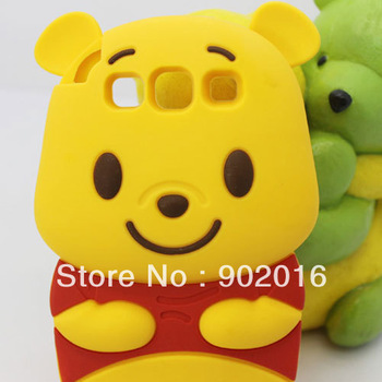 5pcs/lot free shipping Cute Panda Baby Silicone Skin Soft Case Back Cover for Samsung Galaxy S3 i9300