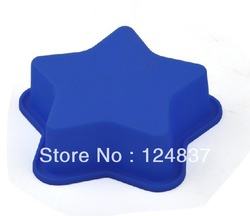 single hole small Five-pointed star silicone mold baking ware Chocolate Freeze Ice Mould bakeware 100% food grade free shipping(China (Mainland))