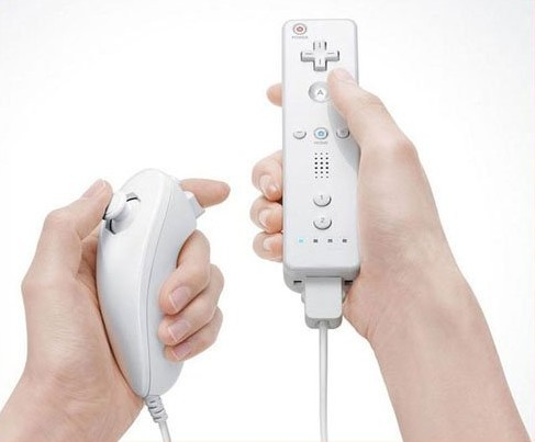 Wholesale Nunchuck &amp; Wireless Remote Controller &amp; Skin For Nintendo Wii, GAME032T Free Shipping(China (Mainland))