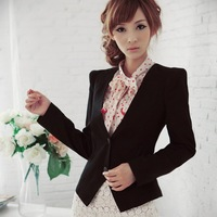 The spring and autumn period and the han edition new fashionable joker elegant female of paragraph small suit