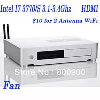 4G RAM,500G HDD, minipc mini desktop with i7 Intel I7 3770/S 3.1-3.4Ghz 22nm mini pcs with WIN 7
