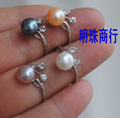 FREE SHIPPING Wholesale Real Genuine Freshwater Pearl Ring FREE SIZE ADJUSTABLE Beautiful Exquisite Jewelry