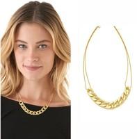 Women New Original Design Fashion Jewelry Classic Buckle Gold Tone 20' Link Chain Female Necklace Accessories
