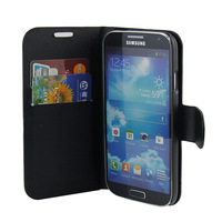 leather Flip case S4 I9500 Wallet With Stand Credit Card holder  Free Screen Protector