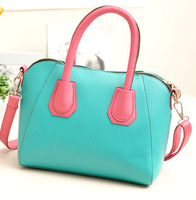 factory sales 2013 new PU lovely candy colors hit the color women bag diagonal packet free shipping 288
