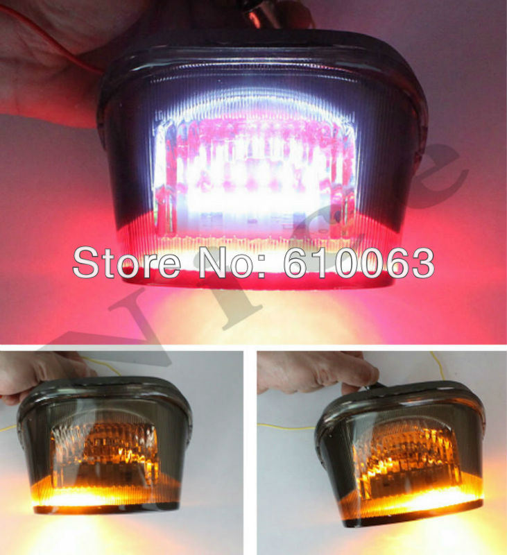 Smoke LED Tail Light Brake Turn Signals For Harley Davidson Road King Dyna Glide motorcycle parts(China (Mainland))