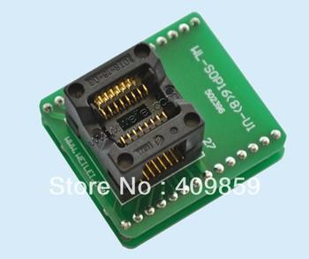 Free shipping Original Wellon IC Adapter Programmer Socket SOP16 WL-SOP16-U001 SOP 16 update of WL-SOP16-U1