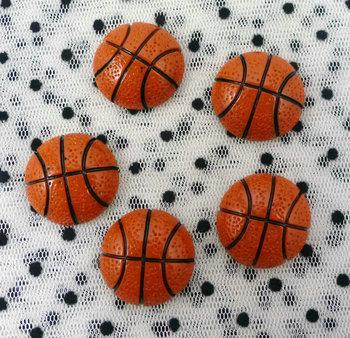 "50pcs basketball Ball FlatBack Resins Scrapbooking Embellishment  1""  Free shipping"