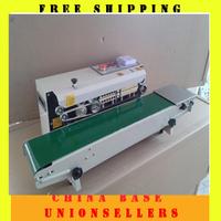 Free shipping Continuous plastic bag sealing machine datecode heat shrinking sealer,impulse sealer  FR-770