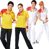 Kaldi sportswear set 3602 female male lovers design summer quick-drying lovers tennis ball jersey