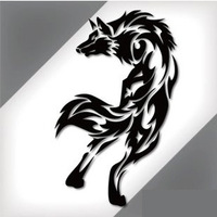 Free Shipping Various Color Wolf Car Sticker Vehicle Door Tail Art Decoration Decal C063