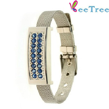 16G /8G crystal bracelet  usb flash drives Jewelry USB memory stick bulk flash drives